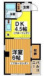東京都渋谷区笹塚3の賃貸マンションの間取り