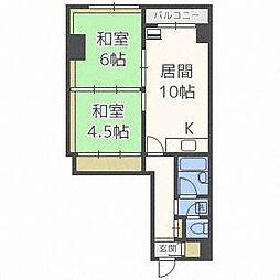 第2タヂカビル[8階]の間取り