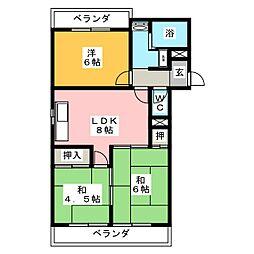 ハイツ森鷹2番館[3階]の間取り