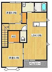 フィオーレ弐番館 B棟[2階]の間取り
