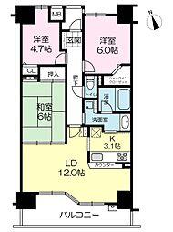 セレッソコート加古川ステーションアベニュー[306号室]の間取り