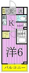 ライジングプレイス綾瀬[2階]の間取り