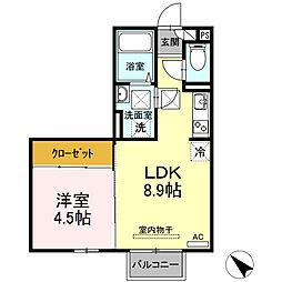 (仮)D-room西本町 B棟[105号室]の間取り
