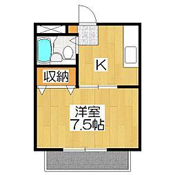 コーポ安井[101号室]の間取り