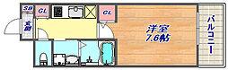 プレジール灘[208号室]の間取り