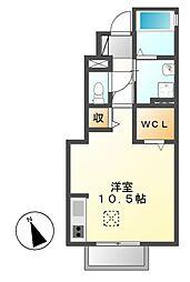 CASA CHIKUSA[1階]の間取り