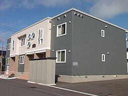 北海道江別市幸町の賃貸アパートの外観