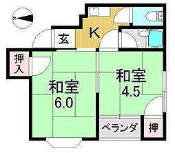 平野アークヒルズ[5O2号室号室]の間取り
