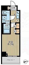 京王線 八幡山駅 徒歩10分の賃貸マンション 7階ワンルームの間取り