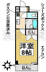 愛知県名古屋市昭和区鶴羽町3丁目の賃貸マンションの間取り