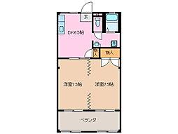 三重県鈴鹿市中江島町の賃貸マンションの間取り