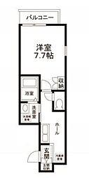 東京都目黒区中町2丁目の賃貸アパートの間取り
