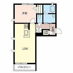 兵庫県加東市上中の賃貸マンションの間取り