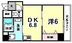 ドゥムレ西天満[2階]の間取り