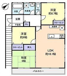 [一戸建] 千葉県八千代市八千代台西5丁目 の賃貸【/】の間取り