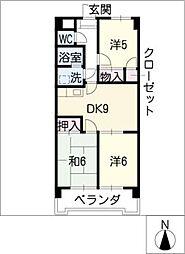 ジュフク松本[6階]の間取り