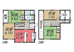 [一戸建] 千葉県千葉市若葉区千城台東3丁目 の賃貸【/】の間取り