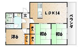 第2瓜生ビル[1階]の間取り