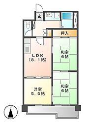 矢野マンション[4階]の間取り