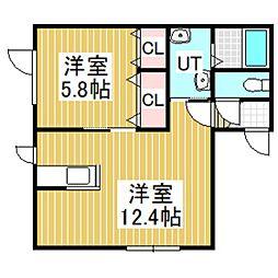 ジェーハイツ元中野No.3[101号室]の間取り