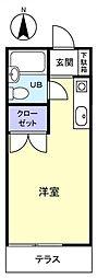 モアコーポ八千代台[1階]の間取り