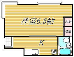 東京都葛飾区高砂7丁目の賃貸アパートの間取り