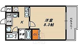インプレイス鶴見緑地[7階]の間取り