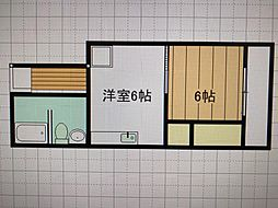JR東海道新幹線 熱海駅 徒歩3分の賃貸マンション 4階1DKの間取り