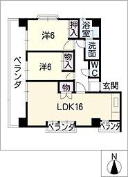 フォトレス栄[6階]の間取り