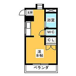 カワナハイツ[3階]の間取り