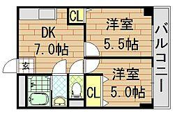 サンライフ小阪[604号室]の間取り