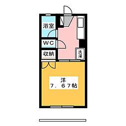 サンハイツモリ[1階]の間取り