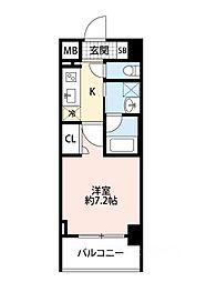 スプランディッド大阪WEST[604号室]の間取り