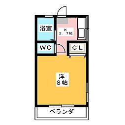 水口ハイツ[2階]の間取り