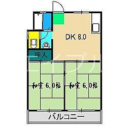 門屋マンション[1階]の間取り