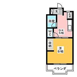 イースト8[2階]の間取り