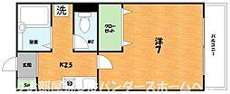 大阪府枚方市黄金野1丁目の賃貸アパートの間取り