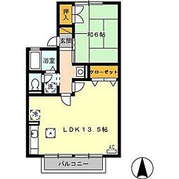 セジュール経堂 A棟[103号室]の間取り