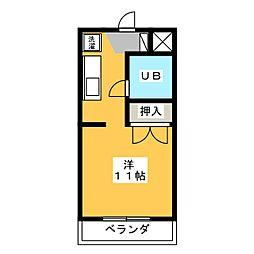 プチメゾン山田[2階]の間取り