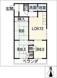 メゾンカワセ2[4階]の間取り