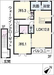 Blanche−J[2階]の間取り