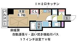 J-cube KOBE[206号室]の間取り