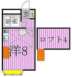 千葉県松戸市小金原9丁目の賃貸アパートの間取り