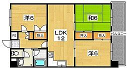 シーガルハイツ[3階]の間取り