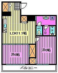 シャンフレア北浦和[7階]の間取り