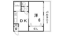 エスポワール六甲[1階]の間取り
