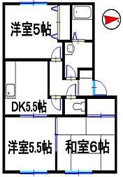 兵庫県姫路市東今宿 6丁目の賃貸アパートの間取り