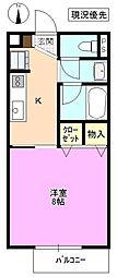長野県松本市寿北 1丁目の賃貸アパートの間取り