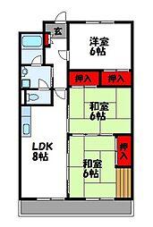 第1センタービル[502号室]の間取り