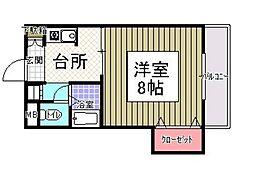 サンシャイン田代2[207号室]の間取り
